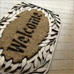 泥落ち抜群!お洒落なココヤシ玄関マット。土や水を使うベランダに便利です。